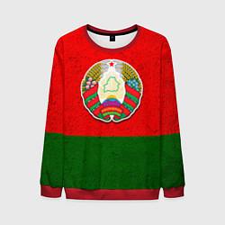 Свитшот мужской Герб Беларуси цвета 3D-красный — фото 1