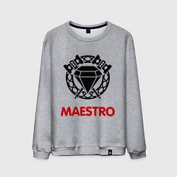 Свитшот хлопковый мужской Dwarf Fighter - Maestro цвета меланж — фото 1