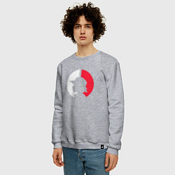 Свитшот хлопковый мужской Эш: ловец покемонов цвета меланж — фото 2