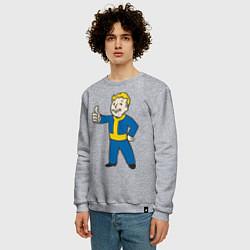 Свитшот хлопковый мужской Fallout Boy цвета меланж — фото 2
