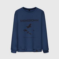 Свитшот хлопковый мужской Shinedown: Sound of Madness цвета тёмно-синий — фото 1
