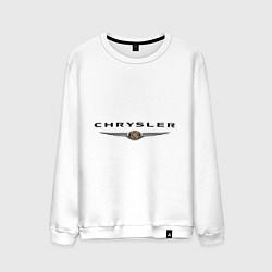Свитшот хлопковый мужской Chrysler logo цвета белый — фото 1