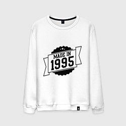 Свитшот хлопковый мужской Made in 1995 цвета белый — фото 1