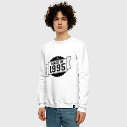 Свитшот хлопковый мужской Made in 1995 цвета белый — фото 2