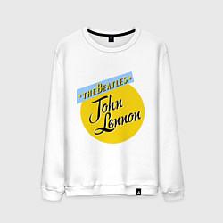 Свитшот хлопковый мужской John Lennon: The Beatles цвета белый — фото 1