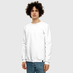 Свитшот хлопковый мужской Иди на XYN цвета белый — фото 2