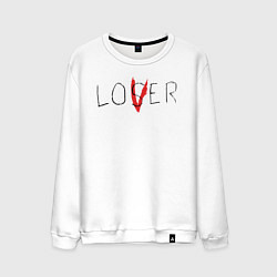 Свитшот хлопковый мужской Lover цвета белый — фото 1
