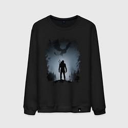 Свитшот хлопковый мужской ВЕДЬМАК цвета черный — фото 1