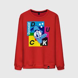 Свитшот хлопковый мужской Donald Duck цвета красный — фото 1