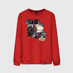 Свитшот хлопковый мужской Deadpool цвета красный — фото 1