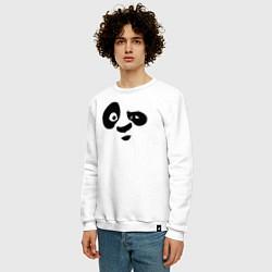 Свитшот хлопковый мужской Панда цвета белый — фото 2