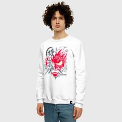 Свитшот хлопковый мужской Samurai 77 V 2 цвета белый — фото 2