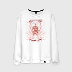 Свитшот хлопковый мужской Red Guardian цвета белый — фото 1