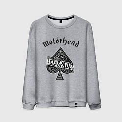 Свитшот хлопковый мужской Motorhead: Ace of spades цвета меланж — фото 1