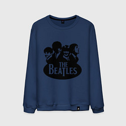 Свитшот хлопковый мужской The Beatles Band цвета тёмно-синий — фото 1