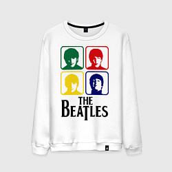 Свитшот хлопковый мужской The Beatles: Colors цвета белый — фото 1
