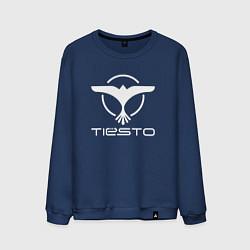Свитшот хлопковый мужской Tiesto цвета тёмно-синий — фото 1