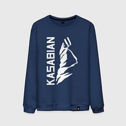Свитшот хлопковый мужской Kasabian цвета тёмно-синий — фото 1