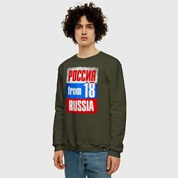 Свитшот хлопковый мужской Russia: from 18 цвета хаки — фото 2