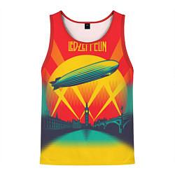 Майка-безрукавка мужская Led Zeppelin: Hindenburg цвета 3D-красный — фото 1