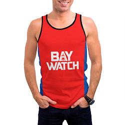 Майка-безрукавка мужская Baywatch Form цвета 3D-черный — фото 2