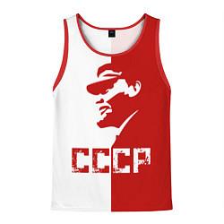 Мужская 3D-майка без рукавов с принтом Ленин СССР, цвет: 3D-красный, артикул: 10140506504123 — фото 1