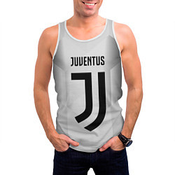 Майка-безрукавка мужская FC Juventus: Silver Original цвета 3D-белый — фото 2