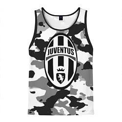 Майка-безрукавка мужская FC Juventus: Camouflage цвета 3D-черный — фото 1