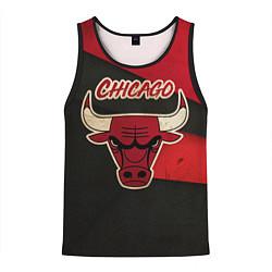 Мужская 3D-майка без рукавов с принтом Chicago Bulls: Old Style, цвет: 3D-черный, артикул: 10153088704123 — фото 1