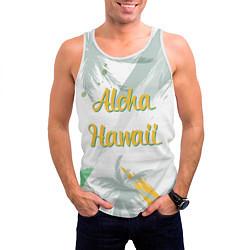 Майка-безрукавка мужская Aloha Hawaii цвета 3D-белый — фото 2