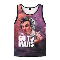 Майка-безрукавка мужская Elon Musk: Let's go to Mars цвета 3D-черный — фото 1