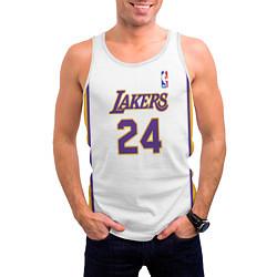 Мужская 3D-майка без рукавов с принтом Kobe Bryant 24 Автограф, цвет: 3D-белый, артикул: 10205897904123 — фото 2