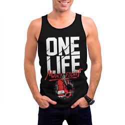 Майка-безрукавка мужская One Life Many Fight цвета 3D-черный — фото 2