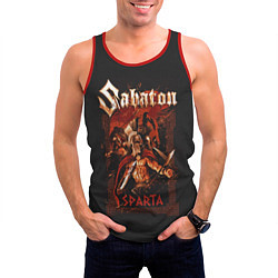 Майка-безрукавка мужская Sabaton - Sparta цвета 3D-красный — фото 2
