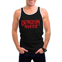Майка-безрукавка мужская Stranger Dungeon Master цвета 3D-белый — фото 2