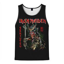 Майка-безрукавка мужская Iron Maiden, Senjutsu цвета 3D-черный — фото 1
