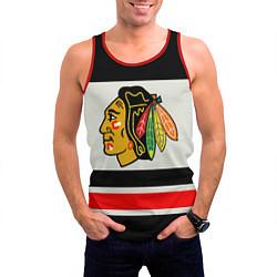 Майка-безрукавка мужская Chicago Blackhawks цвета 3D-красный — фото 2