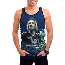 Майка-безрукавка мужская Nickelback: Chad Kroeger цвета 3D-черный — фото 2