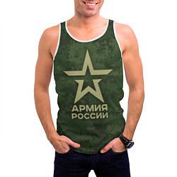 Майка-безрукавка мужская Армия России цвета 3D-белый — фото 2
