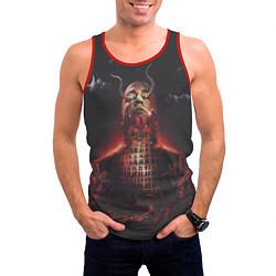 Майка-безрукавка мужская Oxxxymiron: Горгород цвета 3D-красный — фото 2