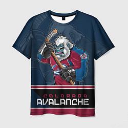 Футболка мужская Colorado Avalanche цвета 3D — фото 1
