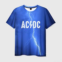 Мужская 3D-футболка с принтом AC/DC: Lightning, цвет: 3D, артикул: 10119112403301 — фото 1