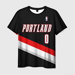 Футболка мужская Portland Trail Blazers 0 цвета 3D-принт — фото 1