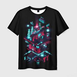 Футболка мужская Mr Robot City цвета 3D — фото 1