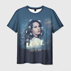 Футболка мужская Lana Del Rey: Love цвета 3D-принт — фото 1