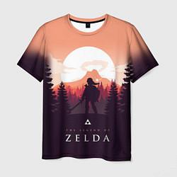 Футболка мужская The Legend of Zelda цвета 3D-принт — фото 1