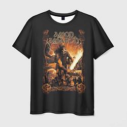 Футболка мужская Amon Amarth: Dark warrior цвета 3D-принт — фото 1