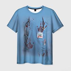 Футболка мужская Костюм врача кровь цвета 3D-принт — фото 1