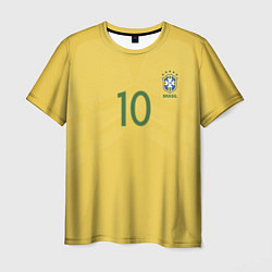 Футболка мужская Сборная Бразилии: Неймар ЧМ-2018 цвета 3D — фото 1
