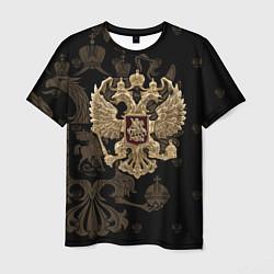 Футболка мужская Золотой Герб России цвета 3D-принт — фото 1